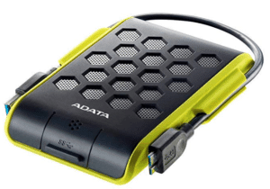 image of external hard drive with cable