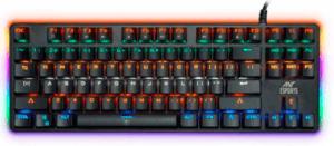 keyboard showing multi colored keys