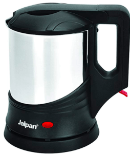 screenshot of electric kettle in silver & black