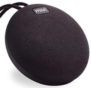 screenshot of round shaped black speakers