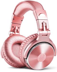 Pink colored headphones