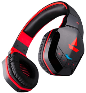 image showing headphones in black & Red color