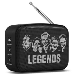 bluetooth speaker showing Indian legends