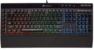 Image of black keyboard with colorful keys