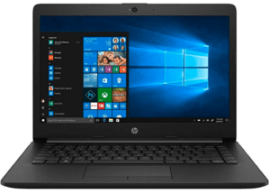 screenshot of HP laptop's front view