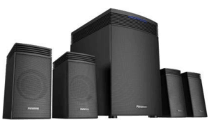 image showing 4.1 channel speakers in black color
