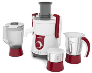 Philips Juicer Mixer in Red and white color
