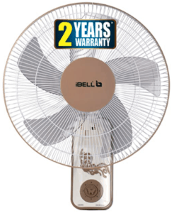 image of white colored wall fan