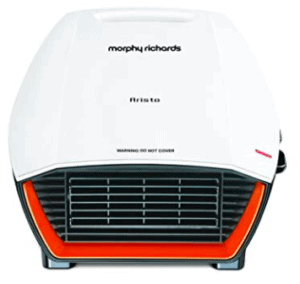 image of morphy richard room heater in white and red color
